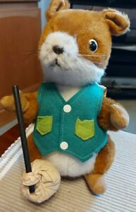 Merrythought Squirrel Runaway With Sack vintage lovely condition