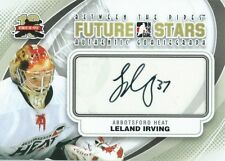 (HCW) 2011-12 ITG Between the Pipes Future Stars LELAND IRVING Autograph 00491