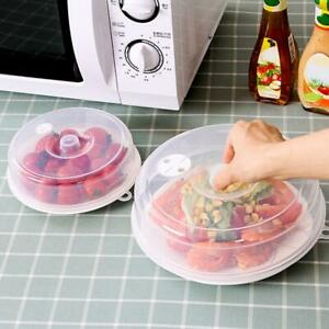 Plastic Lid Kitchen Microwave Food Cover Plate Vented Splatter T2R1.* new O8N0