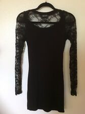 Womens Lacey Black Dress Wet Seal Size Small