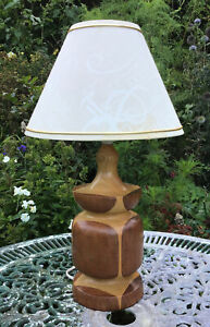 Vintage Retro Turned Wooden Table lamp