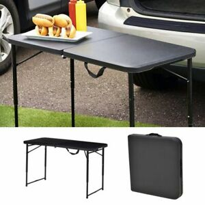 Mainstays 6 Foot Bi-Fold Plastic Folding Table, Black, Freeship