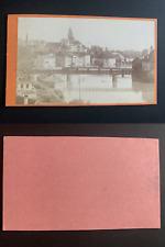 Allemagne, pont métallique à identifier Vintage albumen print CDV.  Tirage alb