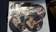 """U2, Interview Newcastle 1/3/83, PACK OF 5 PICTURE DISC 7"""" vinyl singles NEW MINT"""