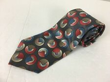 Christian Dior Silk Tie Mens Geometric Colorful