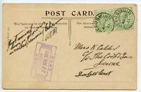 GREAT BRITAIN Thos Thomas Cook 1911 postcard Tweedsmuir GB-Lucerne Switzerland
