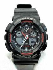 C asio G-Shock GA-100-1A Black & Red Analog Digital Watch New Battery