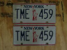 1987-2000 NEW YORK LIBERTY LICENSE PLATE # TME-459  PAIR