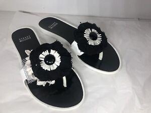 Stuart Weitzman - Black & white summer sandals - sz 9
