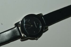 NINE & Company 9C-5141 Watch Ladies Quartz Small 24mm Black Dial Used Works Fine