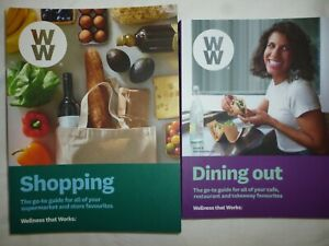 2 x Weight Watchers Guides: Shopping Guide; Eating Out Guide