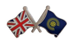 Commonwealth of Nations & United Kingdom UK Flag Friendship Courtesy Pin Badge