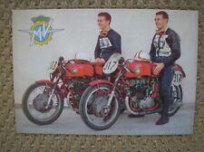 MOTO MV AGUSTA CARTOLINA VENTURI MILANI GIRO MOTOCICLISTICO D'ITALIA 1957