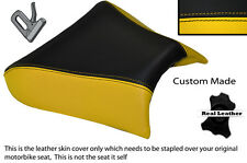 YELLOW & BLACK CUSTOM FITS LAVERDA 650 668 FLAT FRONT LEATHER SEAT COVER