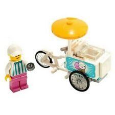 Lego Jahrmarkt Eis Cargo Bike Dreirad & Minifigur Eisenbahn Stadt City Geschenk