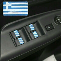 Greece Flag Logo x4 Car Interior Stickers Greek Badge 3D Dome Decal WRC