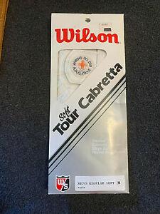 Vintage Custom Wilson Tour Cabretta Arroyo Del Oso Golf Glove - Left Men's M