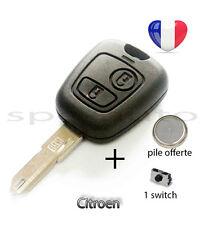plip coque clé Citroen c1 c2 c3 c4 c5 c6 c8 2 boutons + pile + 1 switch