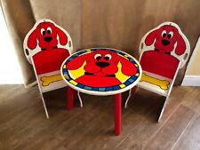 Clifford the big red dog child size table and chairs vintage set furniture play