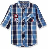 US Polo Assn. Boys' Big Long Sleeve Plaid Shirt