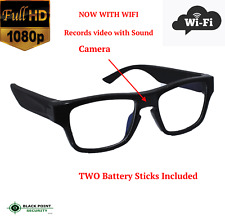 1080p Full HD WIFI Wireless Long Power Reading Glasses Hidden Spy Camera Audio
