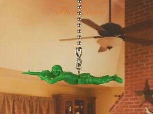 Toy Story Green Army Men Ceiling Fan Pull Light Lamp Chain Decoration K1293 H