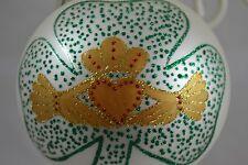 Christmas Ornament New Tags Kaleidoscope Ball Golden Claddagh Irish