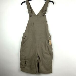 Duluth Trading Co Womens Size XS Tan Heirloom Gardening Shorts Overalls NWT