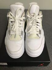 brand new 1a94b e0cdb Nike Air Jordan IV 4 Retro White Metallic Silver 308497-100 Pure Money Size  9.5