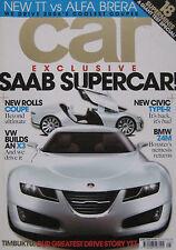 CAR 04/2006 featuring SAAB Aero X, BMW M Roadster, Porsche, Corvette, Noble