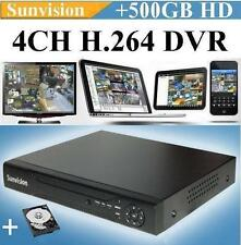 4Ch Channel Es-5004B Sunvision H.264 Digital Video Recorder + 500Gb Hard Drive