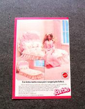 I317-Advertising Pubblicità- 1987 - BARBIE , MATTEL , UN LETTO TUTTO ROSA