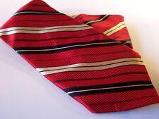 Jos A Bank Italy Designer Power Tie Mens Necktie Stripes Red NWT