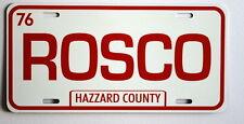 DUKES OF HAZZARD ROSCO LICENSE PLATE POLICE MONACO ROSCOE