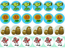 Plant vs Zombie Cupcake Edible Icing Party Cake Topper Decoration Image Custom