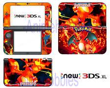 Anime Pokemon Charizard X Vinyl Skin Decals Sticker for Nintendo New 3DS XL 2015