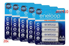8 Genuine SANYO Rechargeable Eneloop AA 2000 mAh NiMH Battery 1800 Chr W/trackno