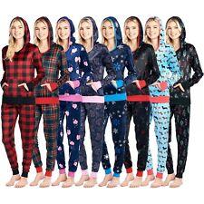 Ashford & Brooks Para Mujer Sudadera con capucha de visón Vellón Chándal Jog Conjunto Pijama Pijama Pijama