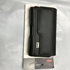 Universal Large Faux PU Leather Holster Belt Loop Clip CellPhone Pouch Case Flip