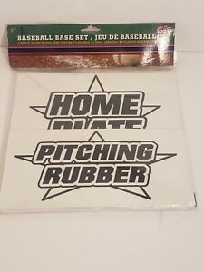 """ALL-STAR SPORTS BASEBALL BASE SET - 3 BASES, HOME PLATE, PITCHER'S RUBBER 9""""x9"""""""