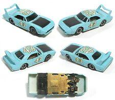 1972 TYCO Pro Petty Dodge Charger HO Slot Car LIGHT Blue SUPERBIRD #43 8833 RARE