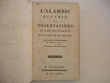 ROUILLE D'ORFEUIL - ALAMBIC DES LOIX 1773 EO