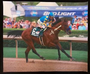 AMERICAN PHAROAH VICTOR ESPINOZA SIGNED 20X24 GILCEE Breeders' Cup Horse Racing