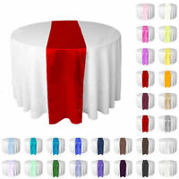 "5 Satin Table Runners Wedding Decoration - 12"" x 108"" 12 inch x  108 inch"