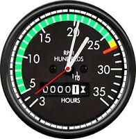 Airplane Aircraft Aviation Pilot Hanger Flight Tachometer Gift Sign Wall Clock