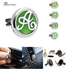 316L+zinc alloy Car Mini Vent Clip Air Freshener Essential Oil Diffuser locket A