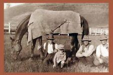 PHAR LAP & T Woodcock &Gerald Telford 1931 Bacchus Marsh modern Digital Postcard