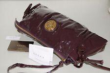 NEW GUCCI Tom Ford ERA Purple Bordo Patent HYSTERIA Gold Medallion CLUTCH BAG