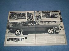 "1973 Mercury Capri Vintage Article ""Noteworthy"" ---- From 1982 ----"