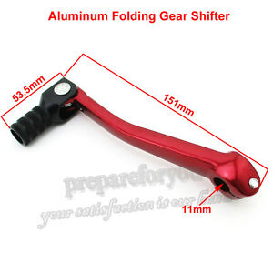 Red Folding Gear Shifter Shift Lever Pit Dirt Bike Motocross Chinese Lifan YX